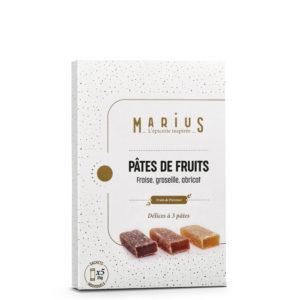 MARiUS PATES FRUITS FRAISE GROSEILLE ABRICOT