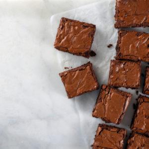 Recette de brownie au chocolat noir et grués de cacao