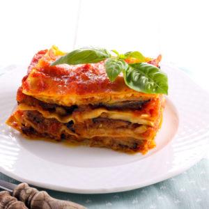 lasagnes riste d'aubergines MARiUS et boeuf