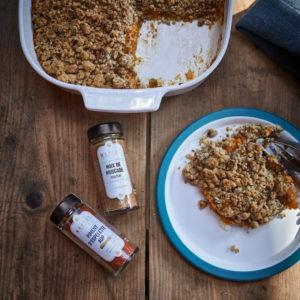 Crumble de patates douces et noix de pécan